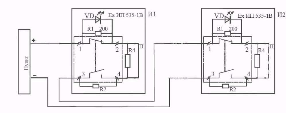 Рис. 4 Схема включения