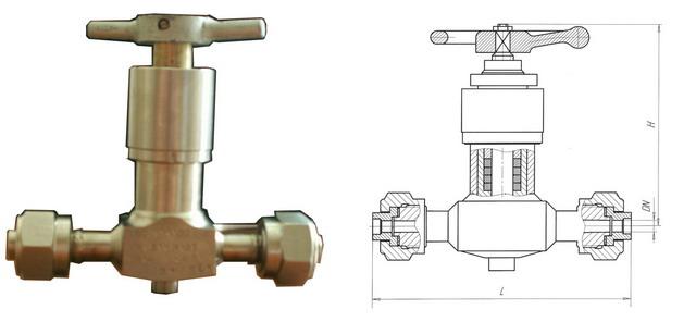 Клапан запорный сальниковый 15нж82п, 15нж82нж (АКС 21544) PN 4,0 МПа