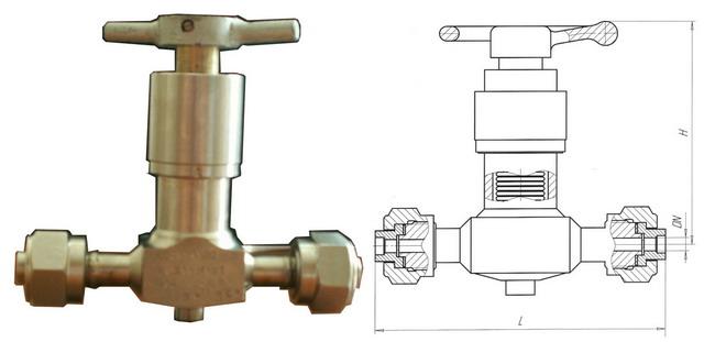 Клапан запорный сильфонный 15нж83п, 15нж83нж (АКС 26543) PN 1,6 МПа